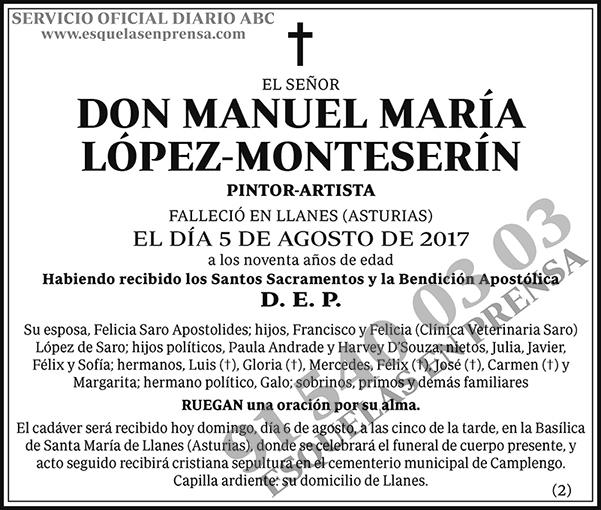 Manuel María López-Monteserín